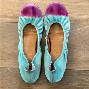Anthropologie Leifnotes Watercolor Flats